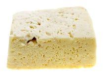 Fromage blanc frais coupé en tranches du lait de vache Image libre de droits