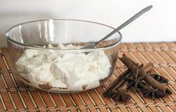 Fromage blanc frais et savoureux délicieux Photographie stock