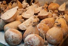 Fromage Caciocavallo Photographie stock libre de droits