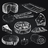 Fromage Collection d'illustrations graphiques Images stock
