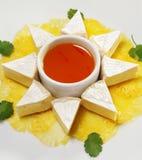 Fromage con la salsa dell'arancio del miele Immagine Stock