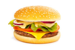 fromage d'hamburger Photographie stock