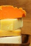 Fromage dans la pile Photographie stock