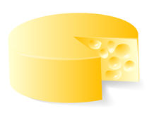 Fromage dans le blanc Image stock