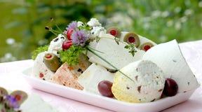 Fromage de chèvre naturel pur fait maison Photo stock
