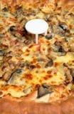 Fromage de champignon de couche de poulet de pizza Photo stock
