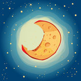 Fromage de lune illustration stock