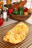fromage de pain délicieux Photographie stock libre de droits