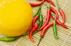 Fromage de poivrons de piment Photographie stock