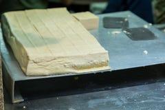 Fromage de tofu au marché Photographie stock