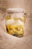 Fromage en marinade Photographie stock libre de droits