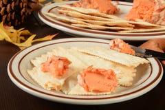 Fromage et biscuits de vacances Photographie stock