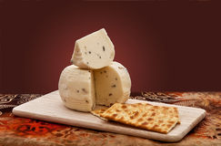 Fromage et casseurs Image stock