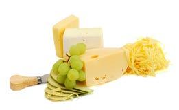 Fromage et fruits Images libres de droits