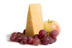 Fromage et fruits Image stock