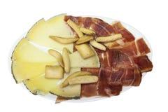Fromage et jambon espagnols images libres de droits