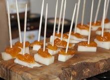 Fromage et marmelade Photos libres de droits