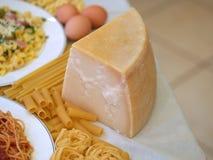 Fromage et pâtes Image libre de droits