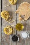 Fromage et pâtes Photos libres de droits
