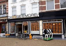 Fromage et plus de magasin, magasin de fromage de Hollande à Delft, Pays-Bas photographie stock