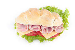 Fromage et sandwich au jambon délicieux image libre de droits