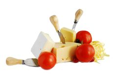 Fromage et tomates Photo stock