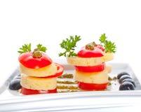 Fromage et une tomate image libre de droits