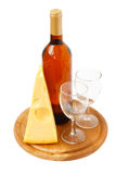 Fromage et vin Photos stock