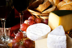 Fromage et vin Image stock