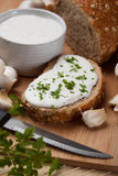 Fromage fondu et pain Image libre de droits
