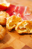 Fromage Gougères Image stock