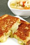 Fromage grillé photos stock