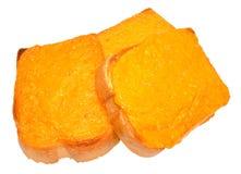 Fromage grillé sur le pain grillé Photo libre de droits