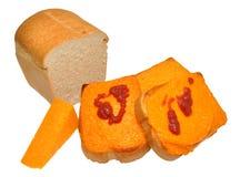 Fromage grillé sur le pain grillé Images libres de droits