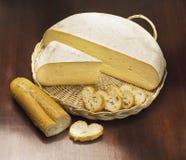 Fromage italien avec du pain Photo stock