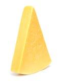 Fromage sur le blanc Photographie stock libre de droits
