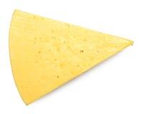 Fromage sur le blanc Photos stock