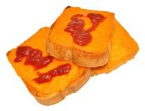 Fromage sur le pain grillé Photos libres de droits