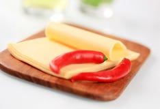 Fromage traité Photographie stock