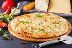 Fromages de la pizza quatre Photos libres de droits