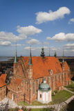 Frombork Cathedral - aerial view Royalty Free Stock Photography