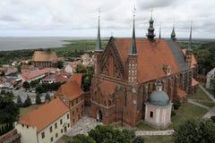 Frombork domkyrka, Frombork, Polen royaltyfri fotografi