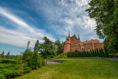 Frombork and the monument of Nicolaus Copernicus stock photography