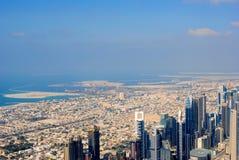 fromBurj de la visión, Dubai viejo y nuevo Imagen de archivo