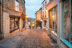 Frome in Somerset. Cobbled streets at Catherine Hill in Frome in Somerset Royalty Free Stock Photos