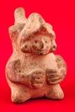 Fromme keramische Figürchen vom Maya Lizenzfreies Stockfoto