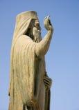 Fromme Statue in Chania Lizenzfreies Stockbild