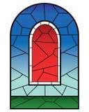 Frommes Buntglasfenster Lizenzfreies Stockbild