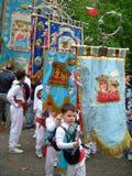 frommes Fest von battenti in Süditalien Stockfoto