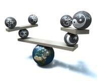 Frommes Gleichgewicht Stockfoto